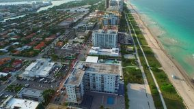 Bay Harbour Miami Beach aerial 4k stock footage