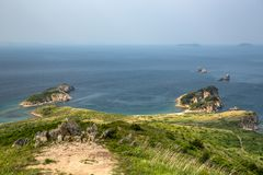 The Bay with high points. The sea of Japan. stock photo