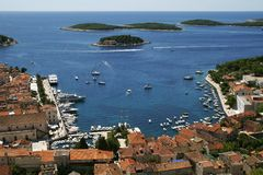 The bay in Hvar Stock Photography