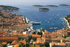 The bay in Hvar Stock Image