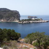 Bay on Ibiza. Little Lovely bay Royalty Free Stock Images