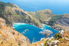 The bay of Ieranto in Sorrento`s peninsula Royalty Free Stock Image