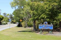 Bay Island Gateway to Siesta Key Sign Royalty Free Stock Image