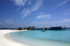 The bay of an island, Maldives Stock Images