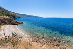 The bay on the island of Vis near Komiza Royalty Free Stock Image