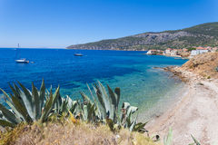 The bay on the island of Vis near Komiza Royalty Free Stock Images