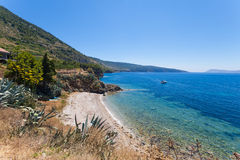 The bay on the island of Vis near Komiza Stock Image