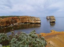 Bay of islands coastal in Victoria Royalty Free Stock Image
