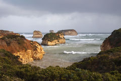 Bay of Islands. The Bay of Islands on the Great Ocean Road Victoria during severe storms in August 2012 Stock Photo