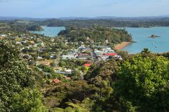 Bay of Islands, New Zealand: Township of Russell stock photo
