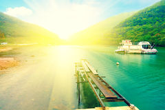 Bay in Istria. Croatia with sunlight stock images
