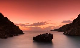 The bay at Kardamili after sun Royalty Free Stock Images