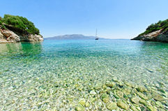 Bay on Kastos island Stock Image