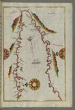 The Bay of Kerme east of east of Cos (Stancho, İstanköy) island from Book on Navigation, Walters Art Museum Ms. W.658, Royalty Free Stock Image
