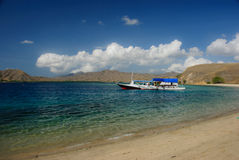 Bay of Komodo island Stock Image