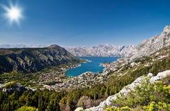Bay of Kotor. View of the Bay of Kotor. Montenegro Stock Photos