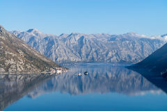 Bay of Kotor (Boka Kotorska) with the old town of Perast, Monten Stock Photography