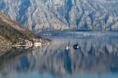 Bay of Kotor (Boka Kotorska) with the old town of Perast, Monten Royalty Free Stock Photos