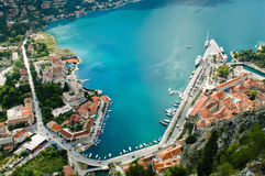 The Bay of Kotor stock image