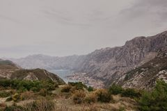 Bay of Kotor from the heights royalty free stock photos