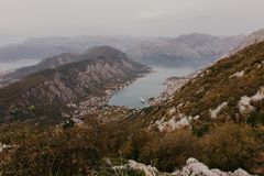 Bay of Kotor from the heights royalty free stock images