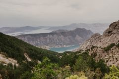 Bay of Kotor from the heights stock photos