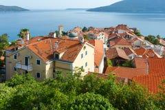 Bay of Kotor and Herceg Novi town (Montenegro) Stock Photography