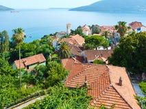 Bay of Kotor and Herceg Novi town (Montenegro) Royalty Free Stock Images
