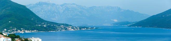 Bay of Kotor and Herceg Novi town (Montenegro) Stock Image