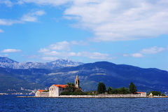 Bay of Kotor island Royalty Free Stock Image