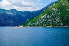 Bay of Kotor, with the islands Royalty Free Stock Photo