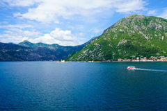 Bay of Kotor, with the islands Stock Images