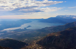 Bay of Kotor and Lustica peninsula. Montenegro Royalty Free Stock Image