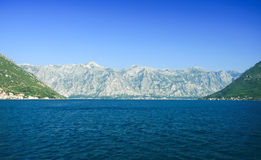 The bay of Kotor, Montenegro Royalty Free Stock Photography