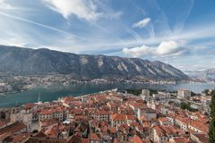 Bay of Kotor, Montenegro. Boka kotorska. Royalty Free Stock Images