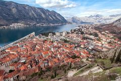 Bay of Kotor, Montenegro. Boka kotorska. Royalty Free Stock Photo