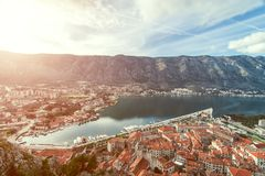 Bay of Kotor, Montenegro. Boka kotorska. Royalty Free Stock Photography