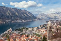 Bay of Kotor, Montenegro. Boka kotorska. Stock Photos