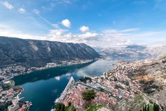Bay of Kotor, Montenegro. Boka kotorska. Royalty Free Stock Photo