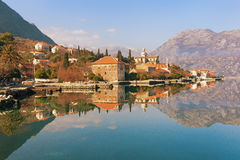 Bay of Kotor near Prcanj town. Montenegro Royalty Free Stock Image