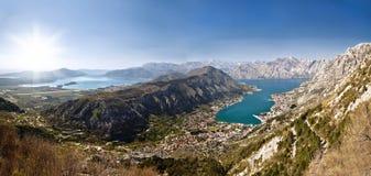 Bay of Kotor. Panorama. View of the Bay of Kotor. Montenegro Royalty Free Stock Image