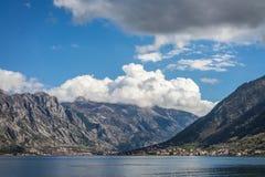 Bay of Kotor panoramic landscape stock photos