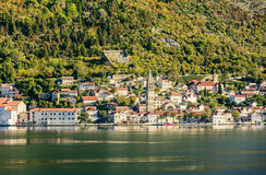 Bay of Kotor, Perast city, Montenegro Royalty Free Stock Photography