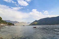 Bay of Kotor from Perast, Montenegro. Kotor bay, Cattaro, is a winding bay of the Adriatic Sea in southwestern Montenegro Stock Images