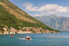Bay of Kotor and Perast town. Montenegro Royalty Free Stock Photography