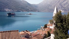 Bay of Kotor, Perast town. Travel and tourism concept. stock photos