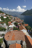 Bay of Kotor from Perast. View of the Bay ofr Kotor from Perast toen Stock Images