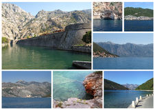 Bay of Kotor Postcard Stock Images