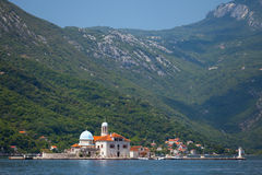 Bay of Kotor. Small Church on island Royalty Free Stock Photography