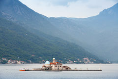Bay of Kotor. Small island Royalty Free Stock Photography